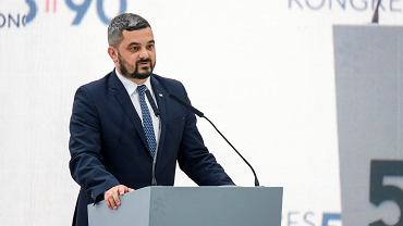 Kongres 590. Krzysztof Sobolewski, jedynka PiS w okręgu rzeszowskim odczytał list Jarosława Kaczyńskiego, prezesa PiS