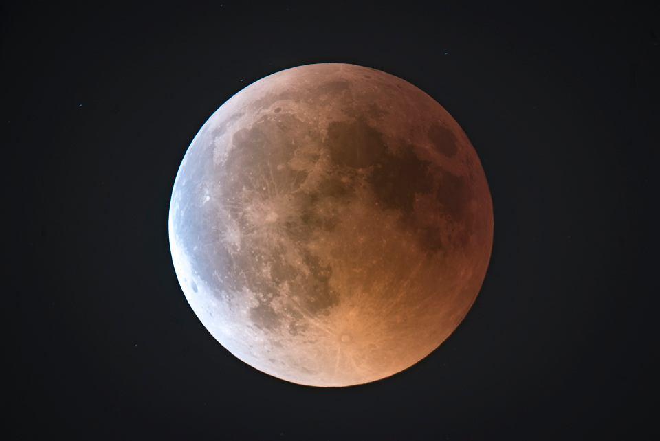 Całkowite zaćmienie Księżyca - styczeń