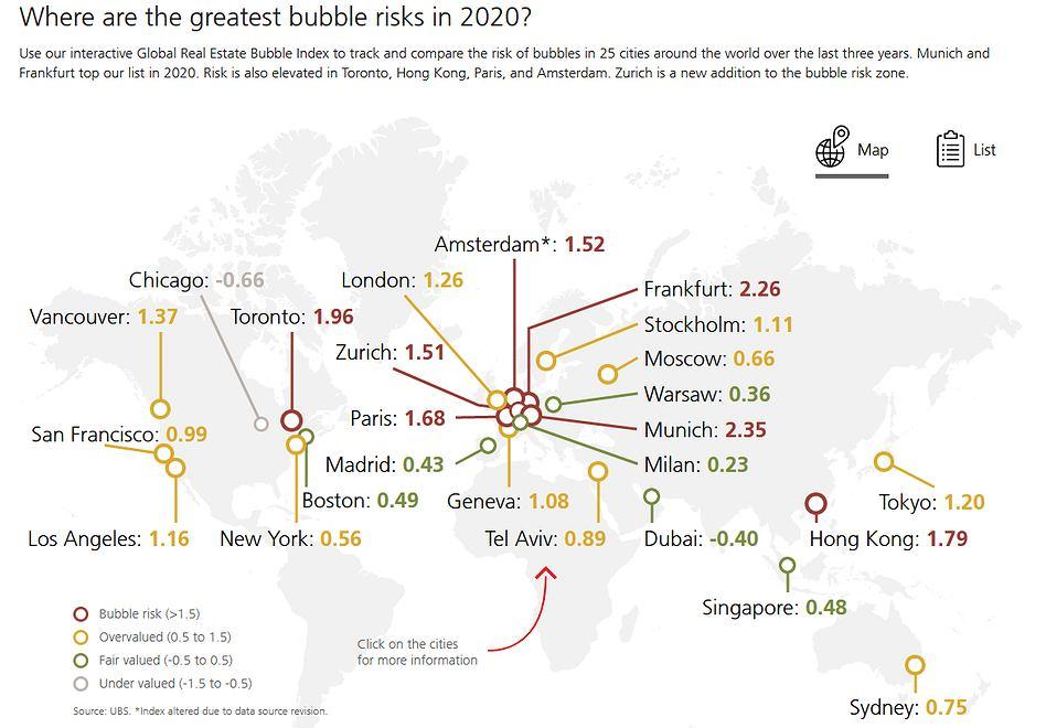 Mapa ryzyka przeszacowania cen nieruchomości,