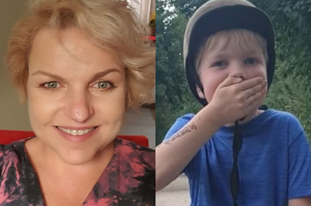 Katarzyna Bosacka z synem