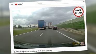 Nieodpowiedzialne zachowanie kierowcy na S8. Chciał 'ukarać' kierowcę tira