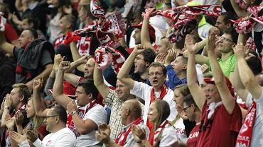 Polscy kibice na meczu Polska - Czarnogóra