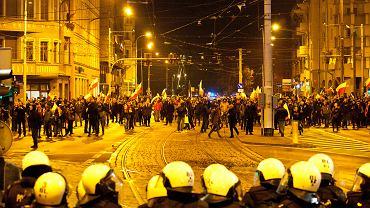 Starcia prawicowców z Policją. Święto Niepodległości, Wrocław, 11 listopada 2019