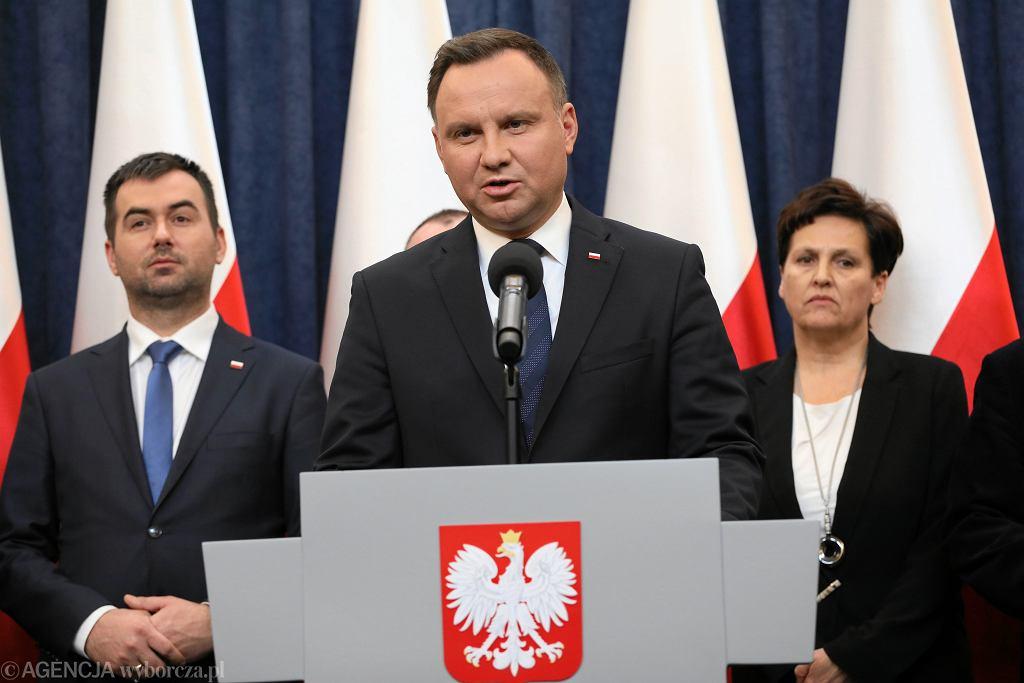 Briefing prezydenta Andrzeja Dudy po spotkaniu w sprawie śmierci prezydenta Gdańska Pawła Adamowicza