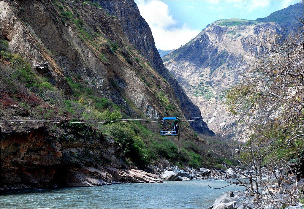 Przeprawa przez rzekę Apurimac