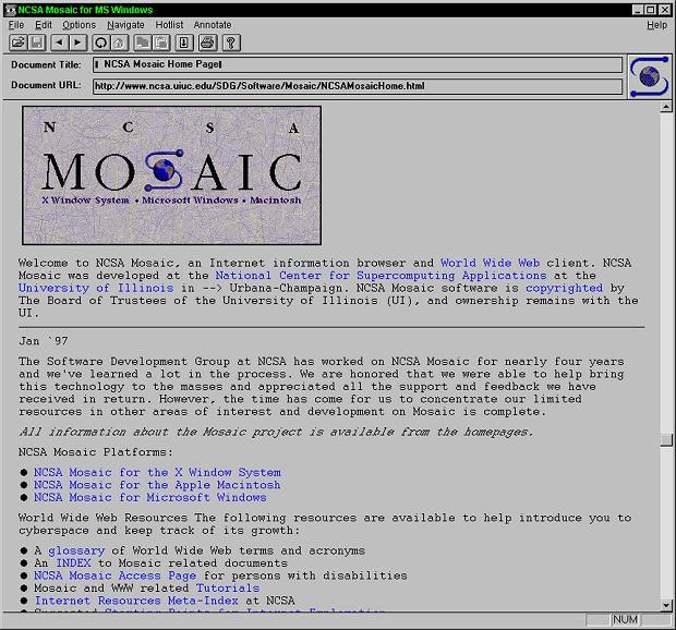Przeglądarka internetowa Mosaic