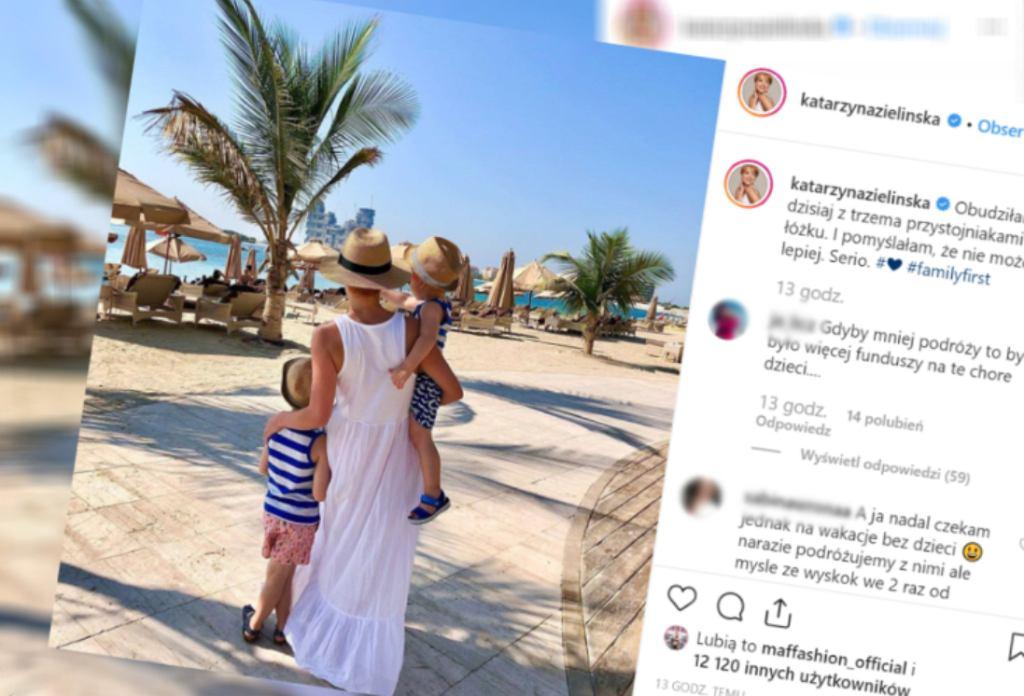 Kasia Zielińska na wakacjach z dziećmi