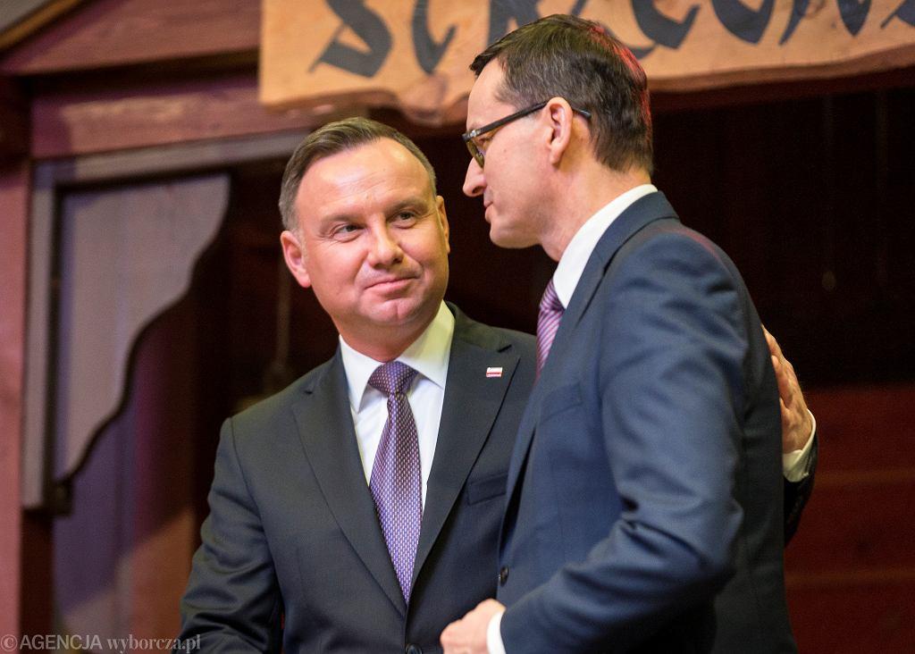 Prezydent Andrzej Duda i premier Mateusz Morawiecki.