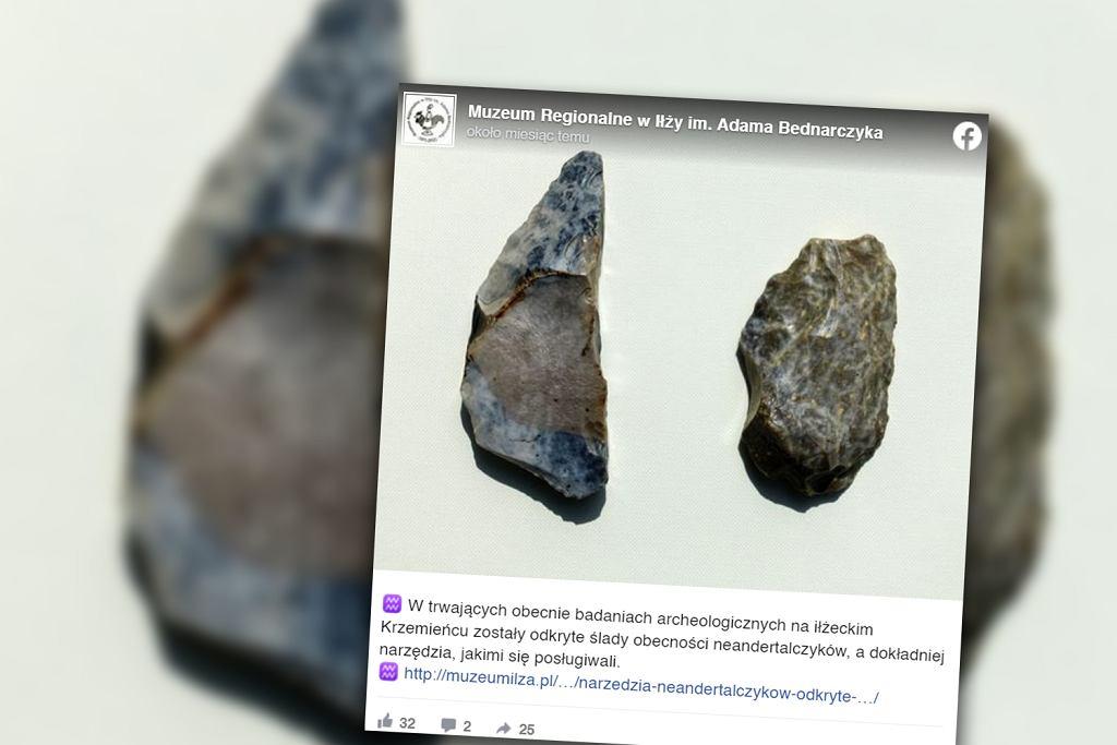 Mazowieckie. Archeolodzy dokonali odkrycia w Iłży. Znaleźli narzędzia neandertalczyków