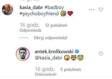 Komentarz na Instagramie Królikowskiego