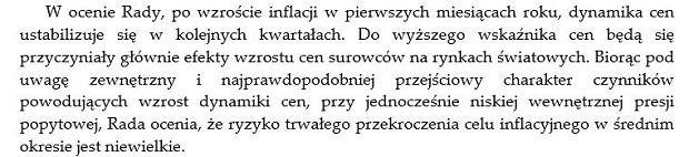 Fragment komunikatu RPP