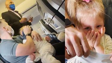 Rodzina została wyproszona z samolotu. Powód? Płaczące dziecko nie chciało założyć maseczki