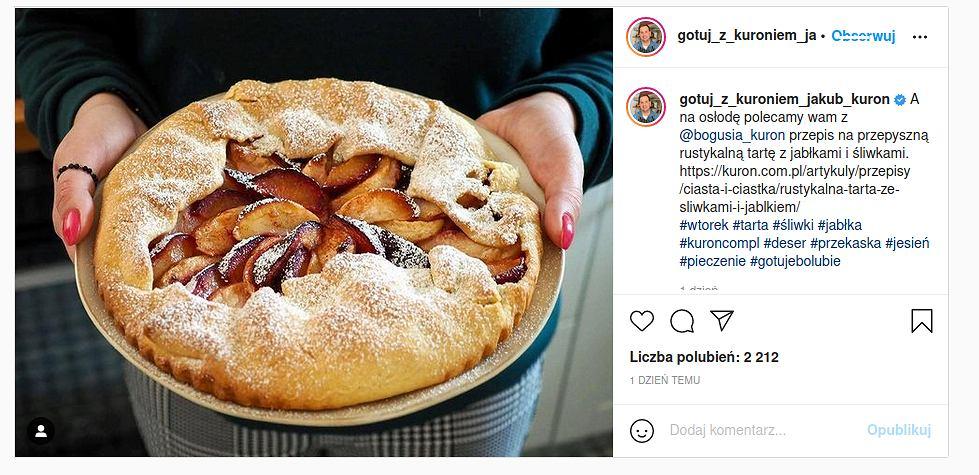 Rustykalna tarta z jabłkami i śliwkami