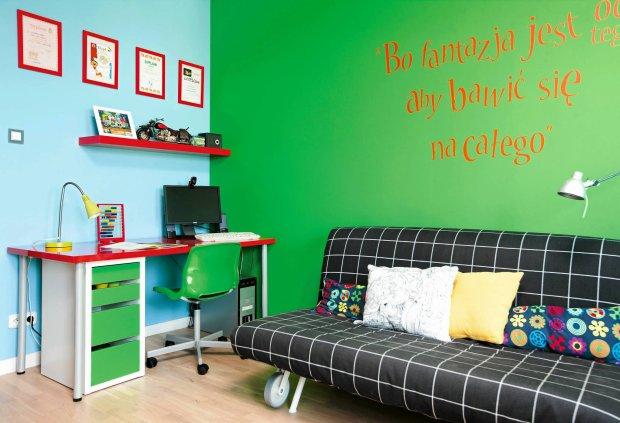 pokój dziecka, metamorfoza, malowanie ścian