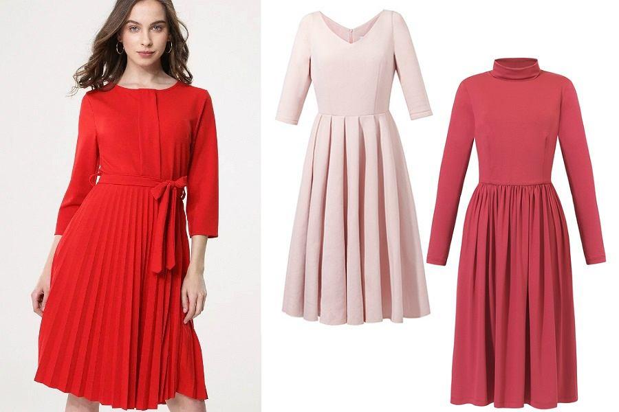 Plisowane i drapowane sukienki