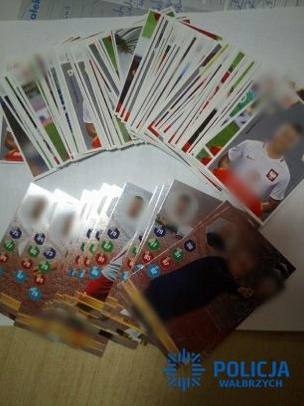 Odzyskane karty z polskimi piłkarzami