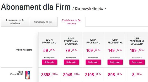 Oferta na iPhone'a X w T-Mobile