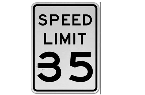 Przerobione ograniczenie prędkości do 35mph
