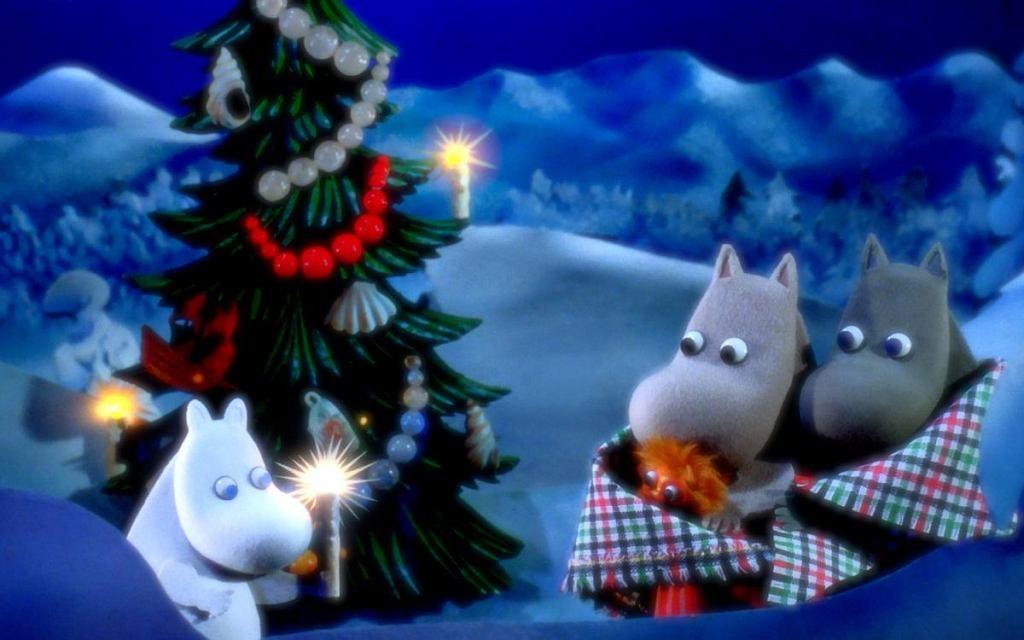 Kadr z filmu 'Magiczna zima Muminków'