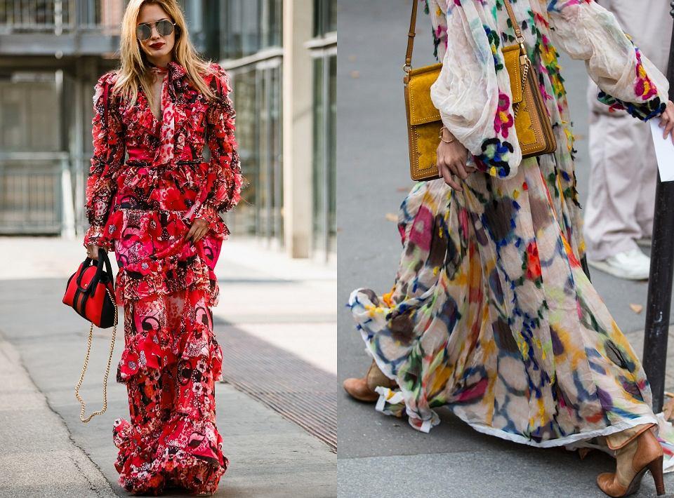 Sukienki na wiosnę 2020 z falbanami