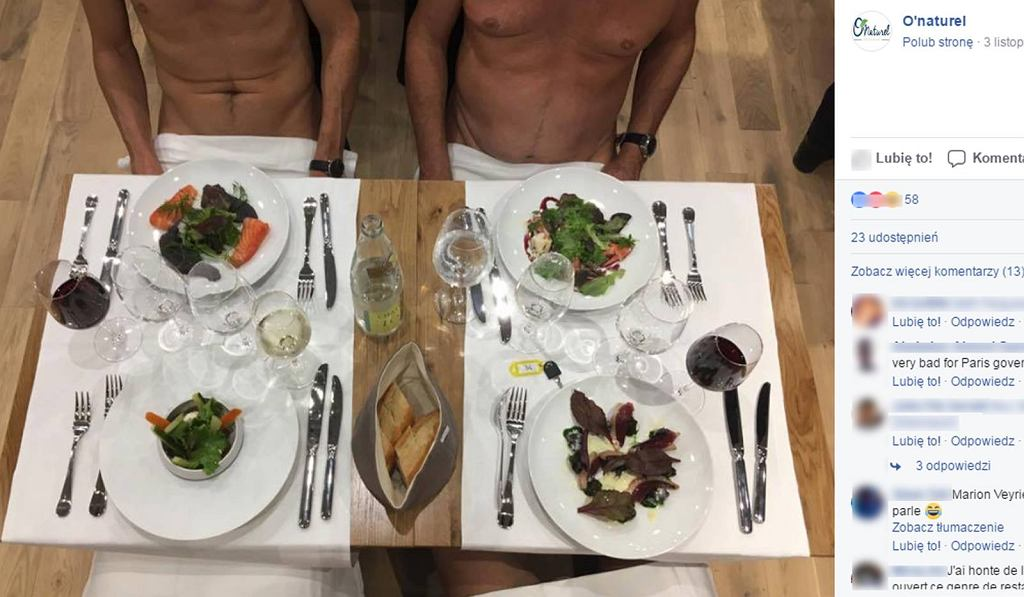 W Paryżu powstała pierwsza restauracja dla nudystów.