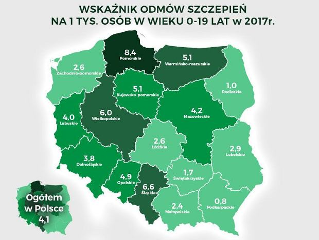 Kto nie szczepi dzieci w Polsce? Najczęściej mieszkańcy dużych miast