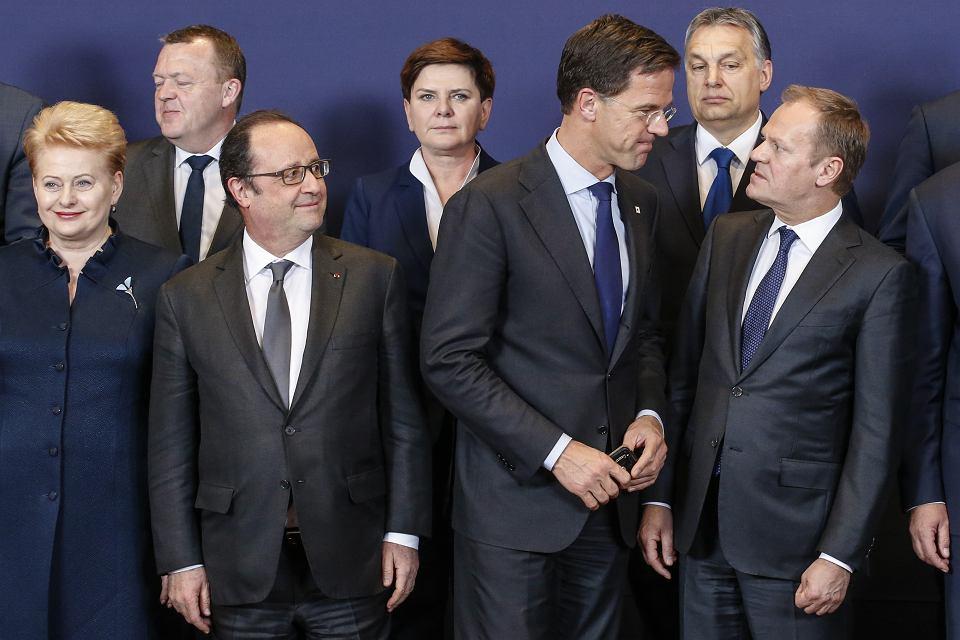 Premier Beata Szydło wśród europejskich przywódców