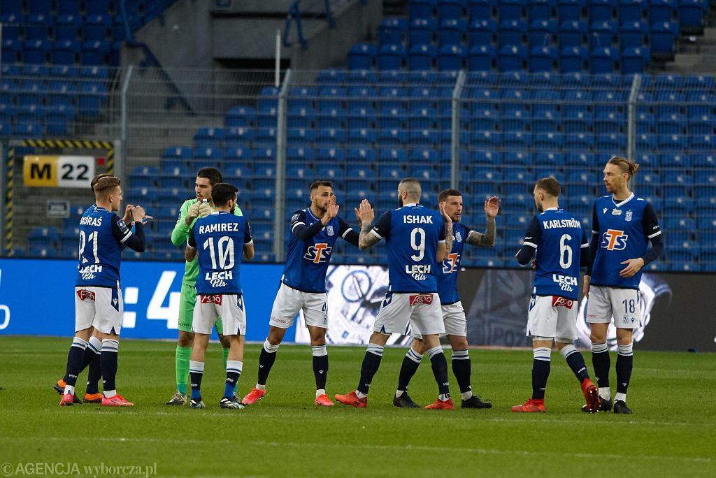 Mecz Lech Poznań - Piast Gliwice na stadionie przy Bułgarskiej w Poznaniu