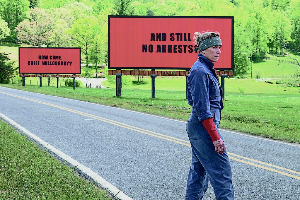 Frances McDormand w filmie 'Trzy Billboardy za Ebbing, Missouri'