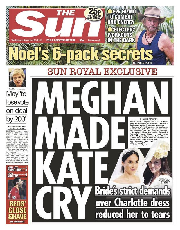 Meghan i Harry na okładce 'The Sun'