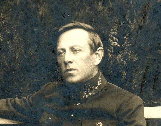 Symon Petlura (1879-1926) w mundurze naczelnego atamana wojsk Ukraińskiej Republiki Ludowej na zdjęciu z 1919 r.