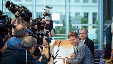 Sven Giegold, główny kandydat niemieckich Zielonych, oraz Robert Habeck, szef partii