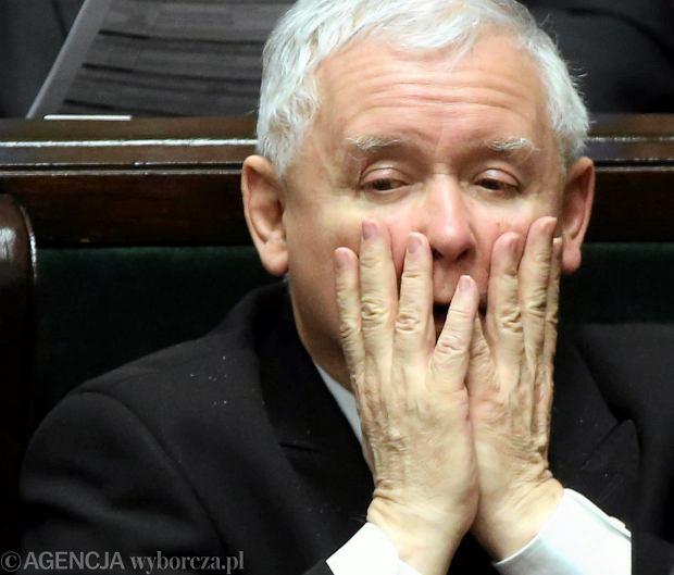 Jarosław Kaczyński w Sejmie, luty 2017