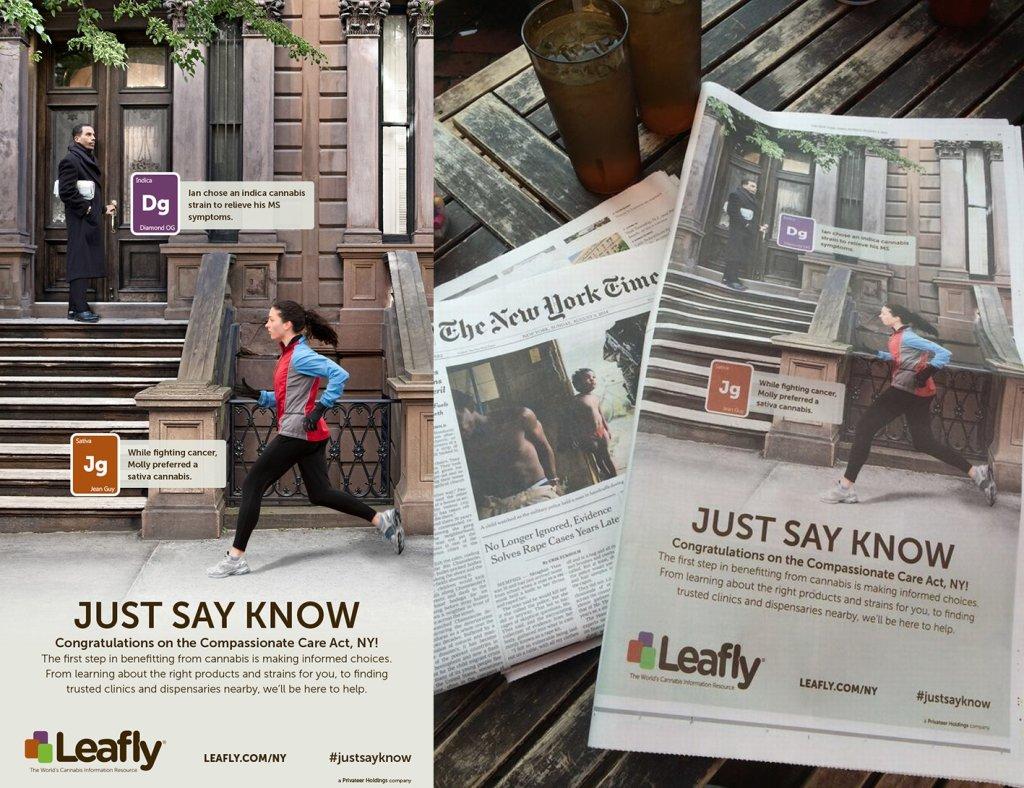 Kampania reklamowa Leafly