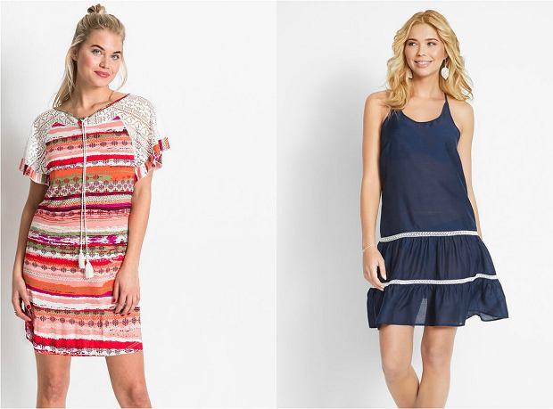 Sukienki plażowe w paski