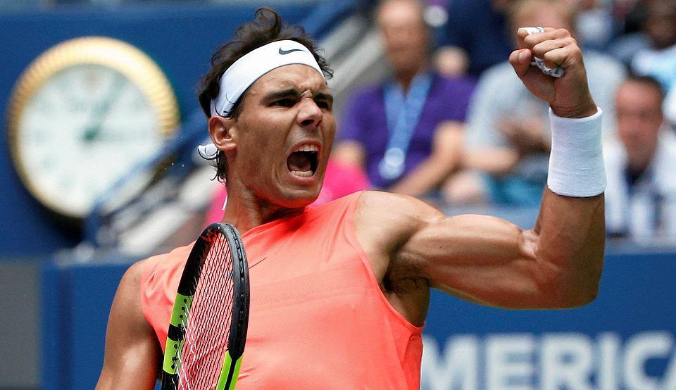 Rafael Nadal w meczu z Karenem Kachanovem. US Open, Nowy Jork, 31 sierpnia 2018
