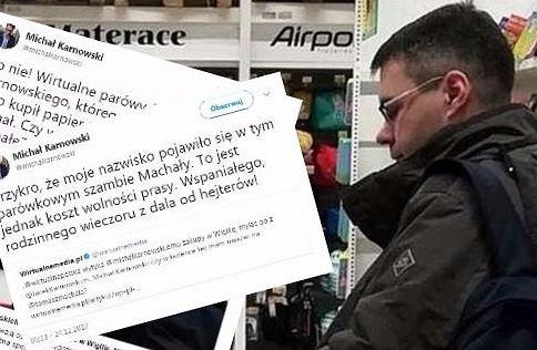 Michał Karnowski przyłapany przez WP na niedzielnych zakupach