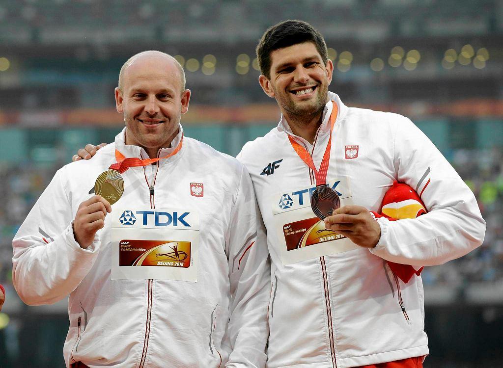 Piotr Małachowski i Robert Urbanek - złoty i brązowy medalista z Pekinu