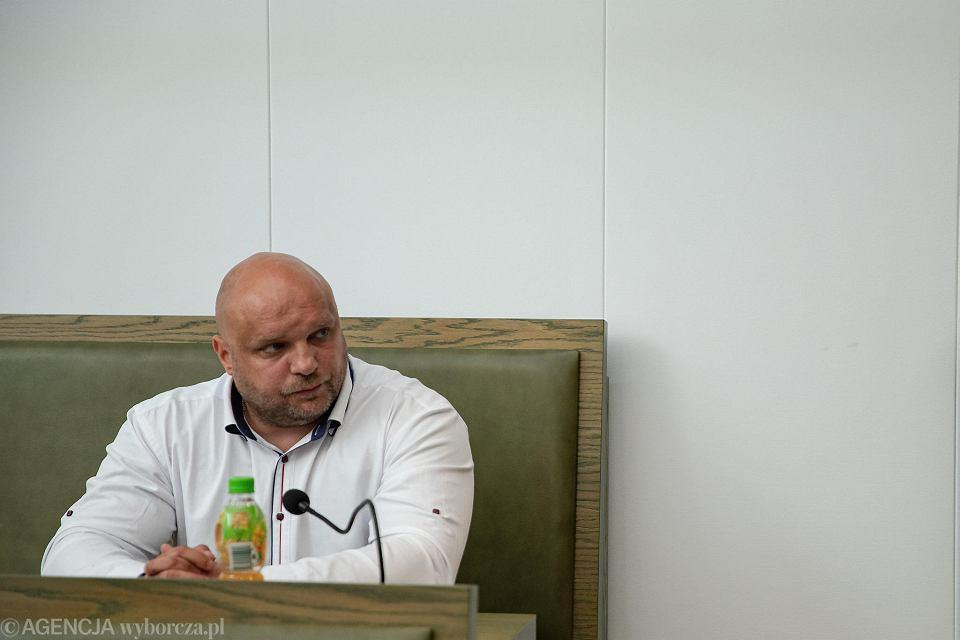 9 lipca 2019 r. Arkadiusz Kraska podczas posiedzenia Sądu Najwyższego