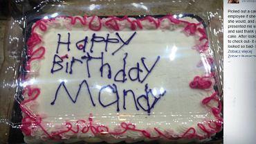Urodzinowy tort, który wzbudził tyle emocji
