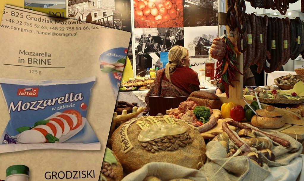 Katalog polskich produktów na targach w USA. W środku mozzarella i oliwki