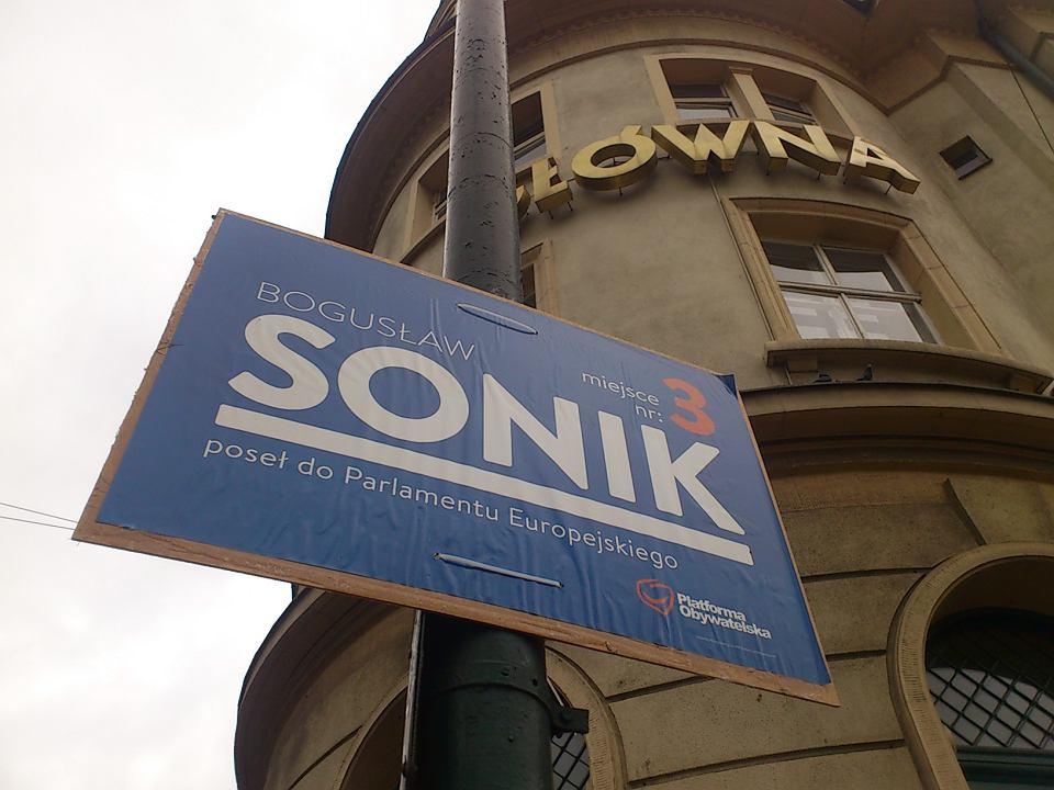 Park Kulturowy A Plakaty Kandydatów Do Europarlamentu
