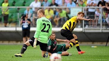 Jakub Wrąbel w meczu z Borussią Dortmund