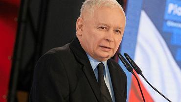 Jarosław Kaczyński podczas kampanii samorządowej 2018