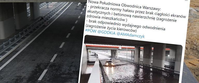 """""""Wanna szczelna"""" zalana. Na fragmencie POW woda sięgała masek samochodów"""