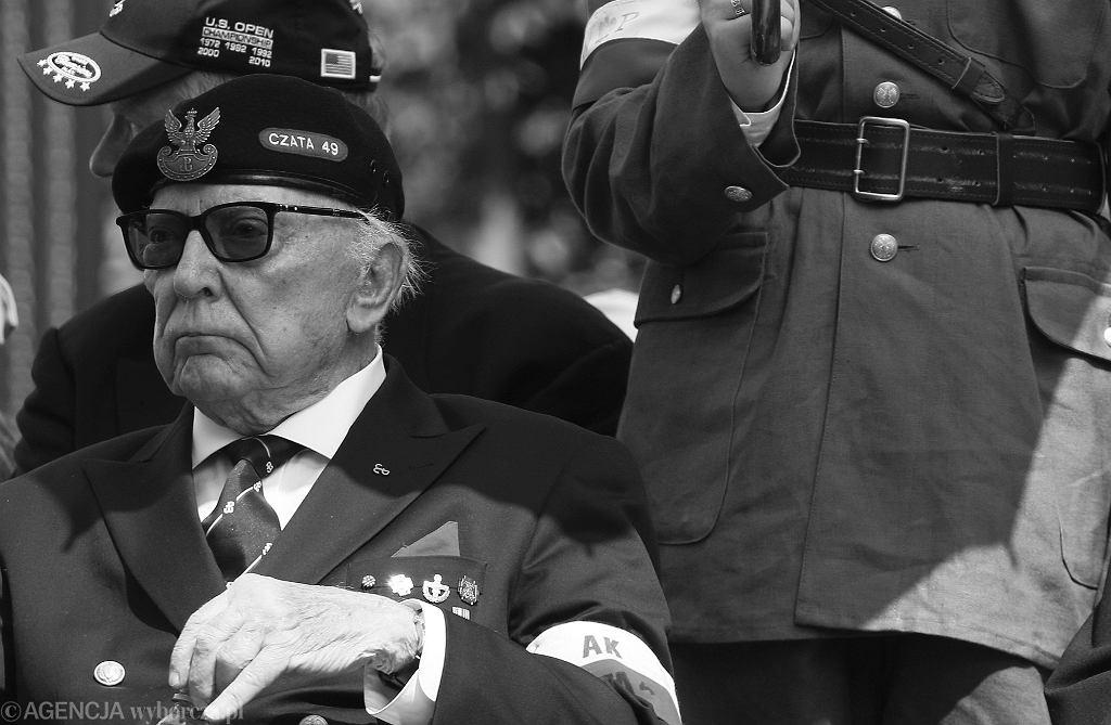 Janusz Bełza ps. 'Bernard' na obchodach rocznicy wybuchu Powstania Warszawskiego w 2019 roku