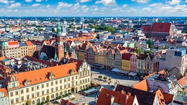 Widok na wrocławski Rynek z góry