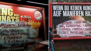 Przepisy kulinarne na billboardach znanych sieci fast foodów