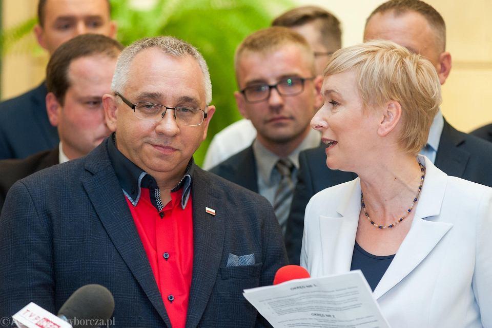 Robert Pieńkowski i Mirosława Stachowiak-Różecka