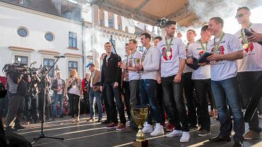 Asseco Resovii mistrzem Polski. Feta na rynku w Rzeszowie